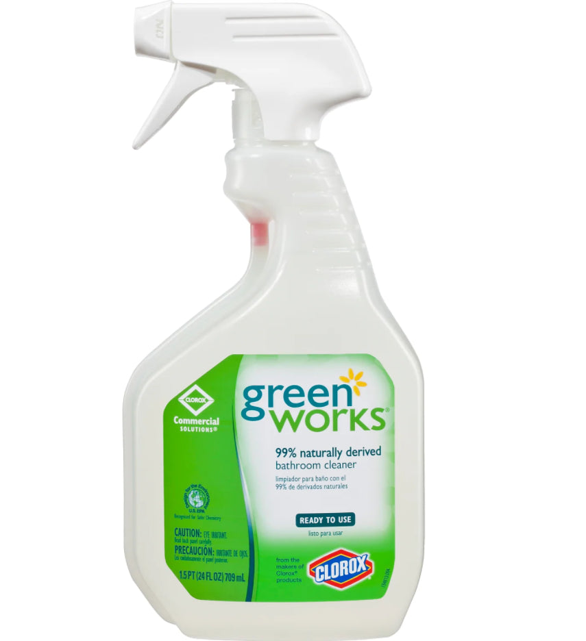 Restroom Cleaners & Accessories - Green Works® Bathroom Cleaner - 24 Oz - Spray Bottle