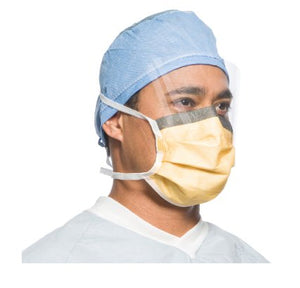 Face Mask - Halyard FLUIDSHIELD ASTM Level 3 Fog-Free Surgical Mask With Ties - 99% Filtration - Box Of 25 Masks - FREE SHIPPING