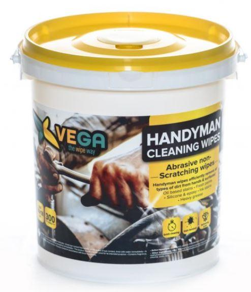 Specialized Wipes - Handyman Cleaning Wipes - Abrasive Non-scratching Wipes - 1 Bucket Of 300 Wipes