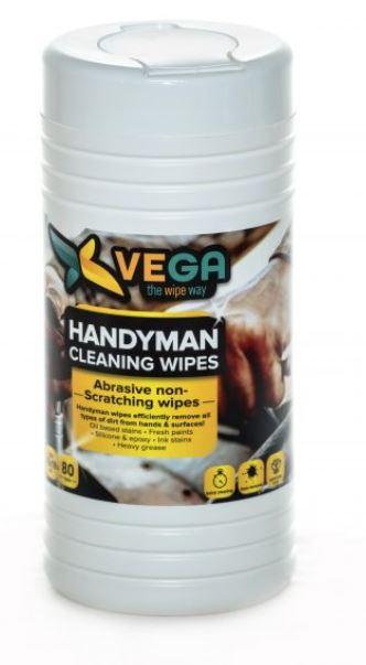 Specialized Wipes - Handyman Cleaning Wipes - Abrasive Non-scratching Wipes - 1 Canister Of 80 Wipes