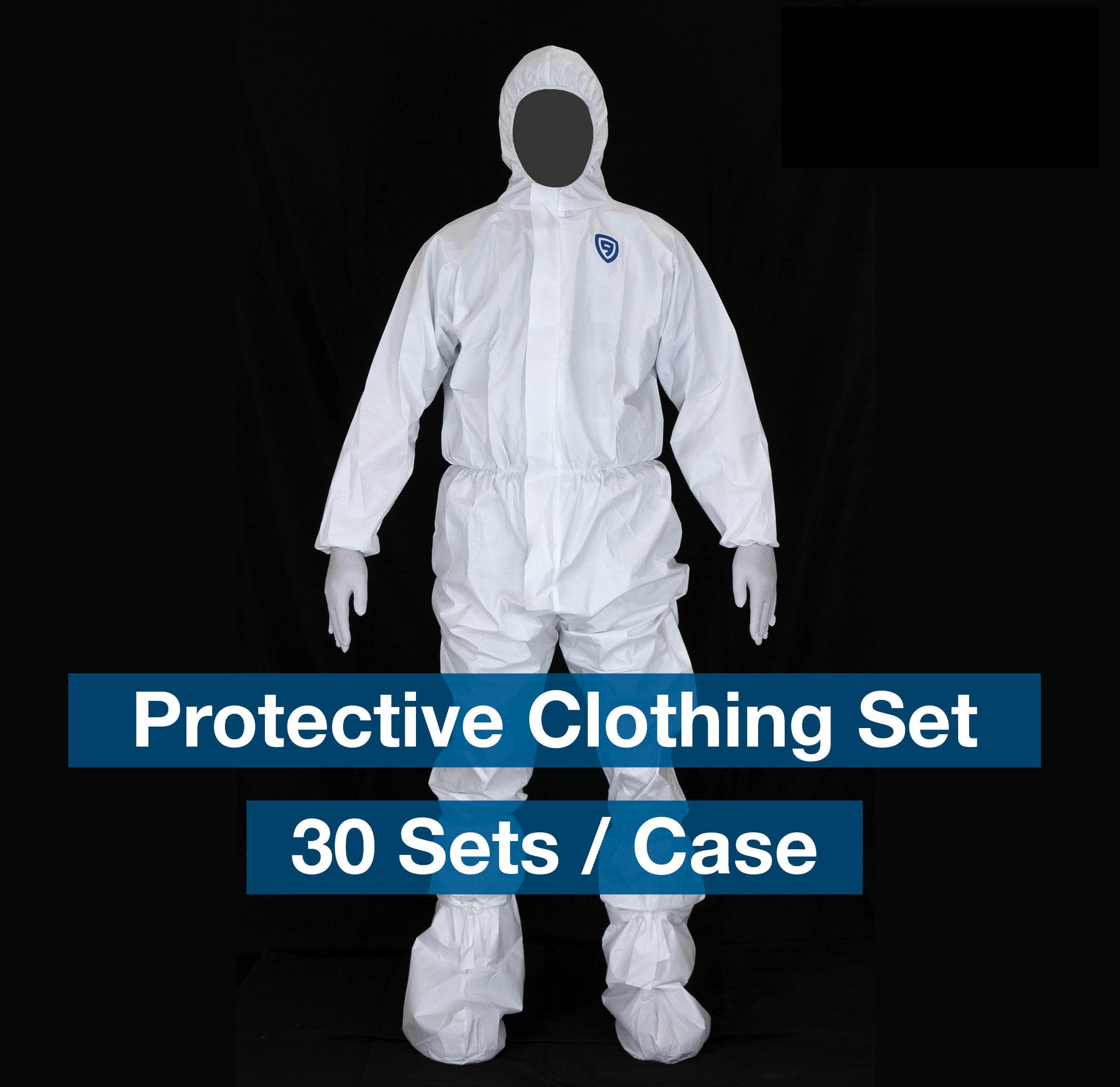 Hooded Coverall Suit w/Boot Covers, Zipper, Elastic Wrists & Ankles  - box of 30 suits  - $19 each - FREE SHIPPING - Brooklyn Equipment