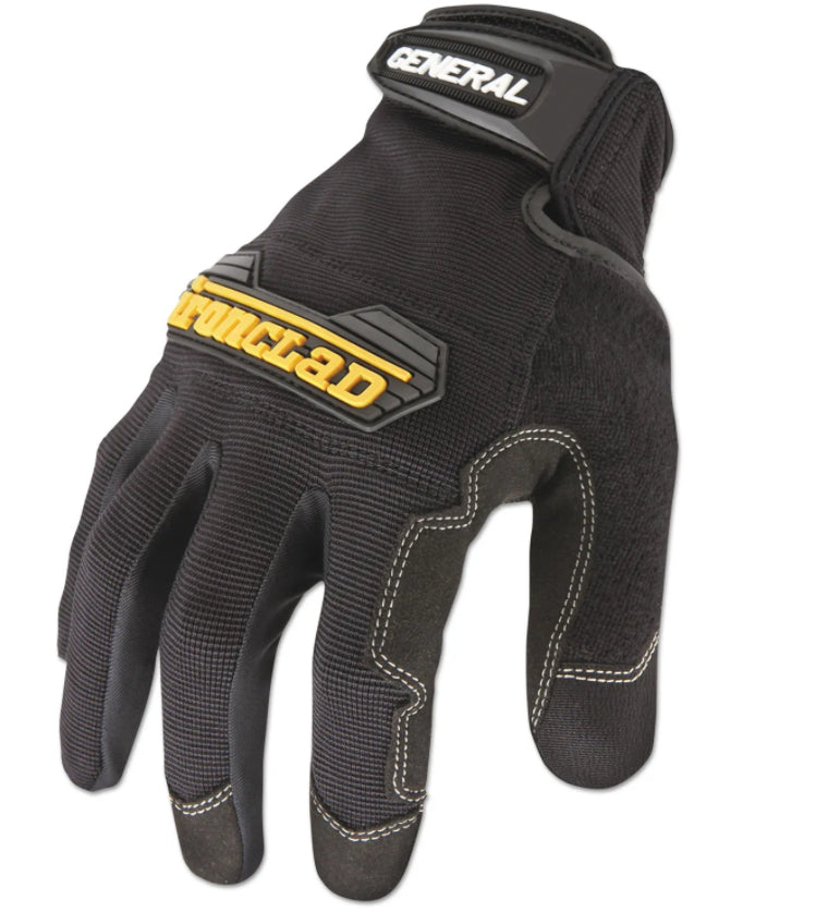 Gloves & Glove Dispensers - Black General Utility Spandex Gloves - Ironclad® - Large - 1 Pair