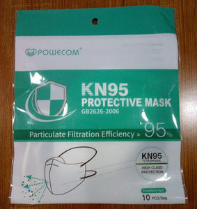 KN95 with HEAD elastic - on FDA Authorized list - pack of 500 -  $2.4/mask - free shipping - Powecom - Brooklyn Equipment