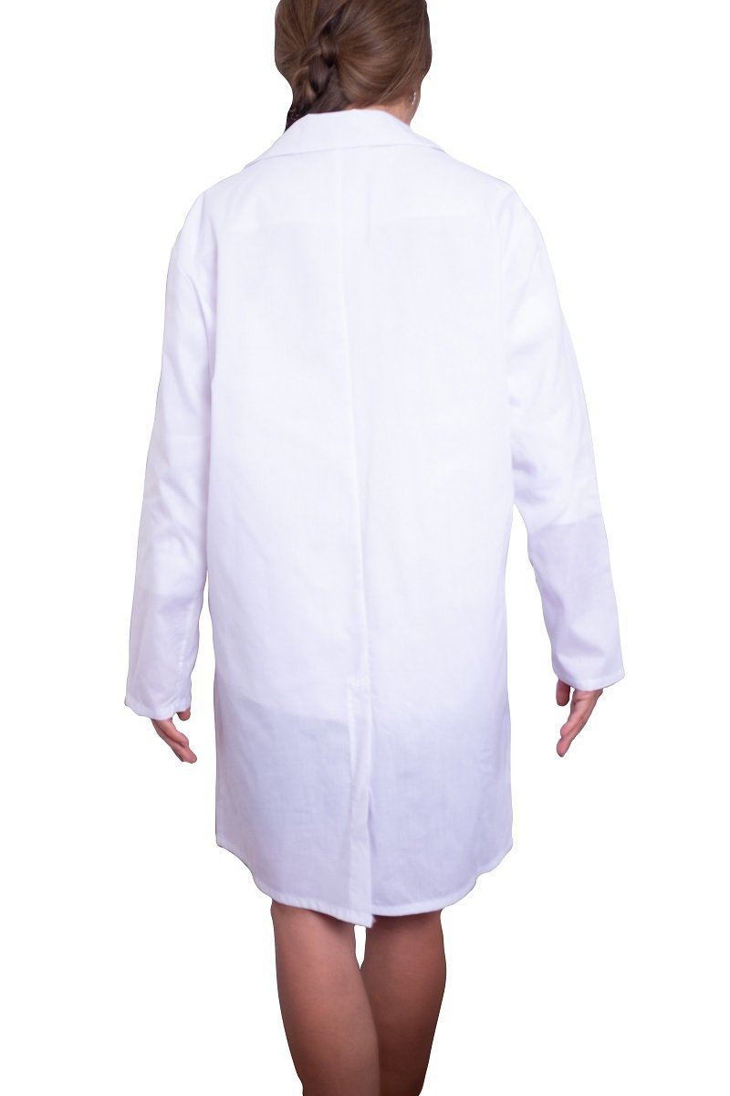 Lab coat - WHITE- re-usable - cotton / poly mix - free shipping - FDA Level 2 - Brooklyn Equipment