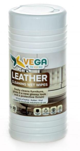 Specialized Wipes - Leather Cleaning Wipes - Cleans Furniture And All Leather - 1 Canister Of 80 Wipes
