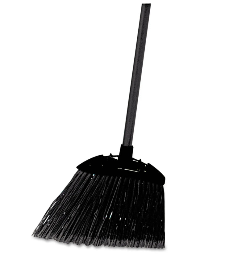 Brooms, Brushes & Dusters - Lobby Pro Broom - Rubbermaid® Commercial - Poly Bristles With Metal Handle - Black