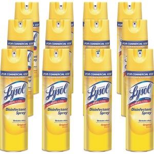 Disinfectant - Lysol® Disinfectant Spray - Lemon Breeze® - Pack Of 12 Cans - SHIPS FREE