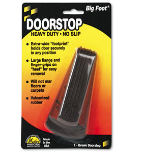 Facility Maintenance - Master Caster® Big Foot® Doorstop - No Slip Rubber Wedge - Brown - Pack Of 1