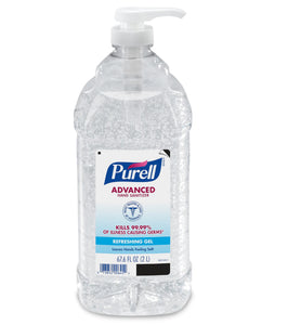 Hand Sanitizers & Dispensers - PURELL® Advanced Refreshing Gel Hand Sanitizer - Clean Scent - 2 Liter Bottle With Pump - Pack Of 4