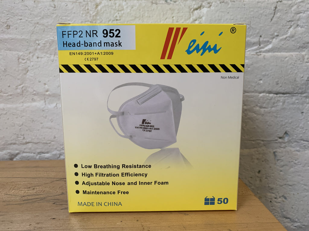 WINI - NR 952 Box of 50 - on FDA Recommended List - EN149-2001 -  $1.99/mask - free shipping - Weini - Brooklyn Equipment
