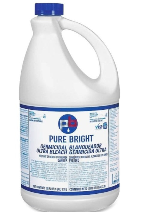 Pure Bright Liquid Germicidal Ultra Bleach - Disinfectant Concentrate - 1 Gallon - Brooklyn Equipment