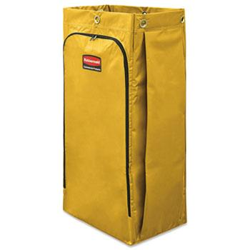 Trucks, Carts & Dollies - Rubbermaid® Commercial Vinyl Cleaning Cart Bag - 34 Gal  - Yellow