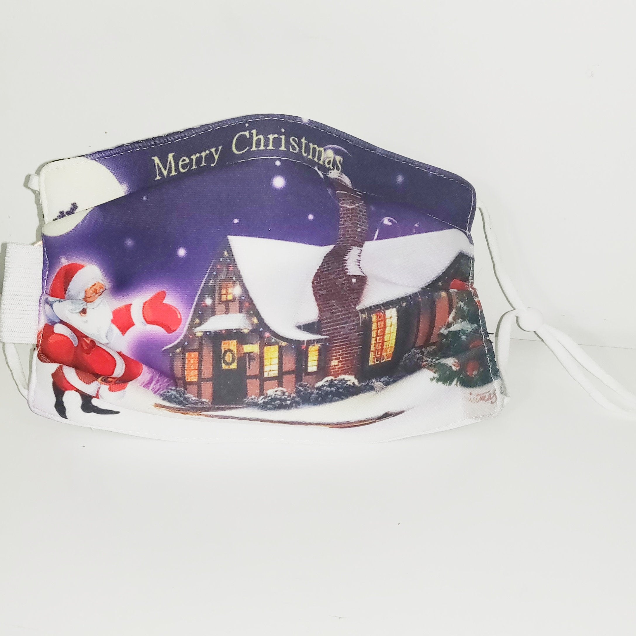 Santa Claus - Christmas Themed LED Face Mask - Multi Layer With Nose Wire - FREE SHIPPING