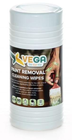 Specialized Wipes - Skin Paint Removal Cleaning Wipes - Removes Oil, Latex And Oil Based Paints - 1 Canister Of 80 Wipes