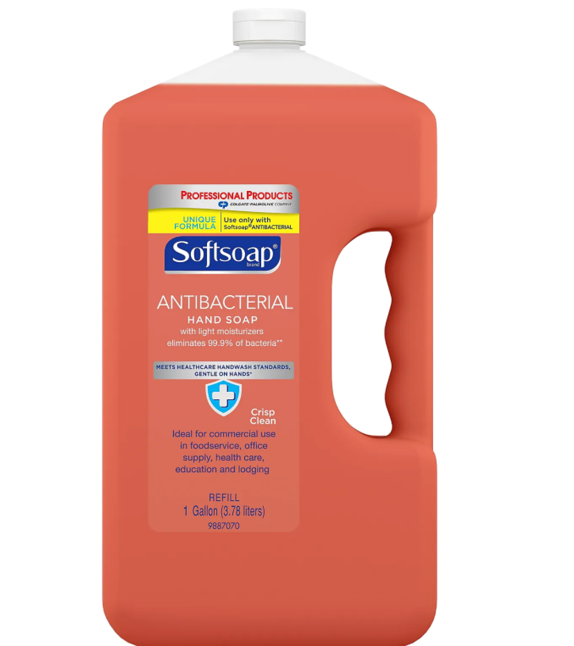 Soaps & Dispensers - 1 Gal Softsoap® Antibacterial Liquid Hand Soap Refill - Crisp Clean