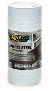 Specialized Wipes - Stainless Steel Wet Wipes - Effectively Cleans And Shines All Stainless Steel Surfaces  - 1 Canister Of 80 Wipes