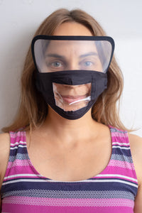 Transparent Black Face Mask with Shield - Free Shipping - Brooklyn Equipment