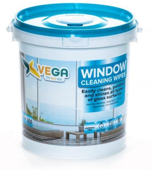 Specialized Wipes - Window Cleaning Wipes - Easily Cleans, Polishes And Shines All Types Of Glass Surfaces  - 1 Canister Of 300 Wipes