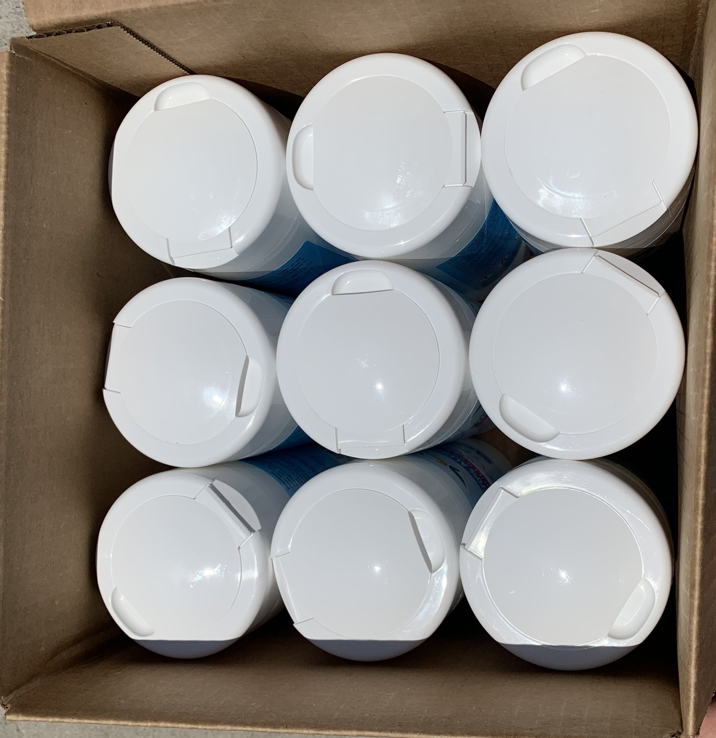 Disinfecting wipes - CDC recommended - 70% alcohol - 9 canisters of 100 - FREE SHIPPING - Brooklyn Equipment