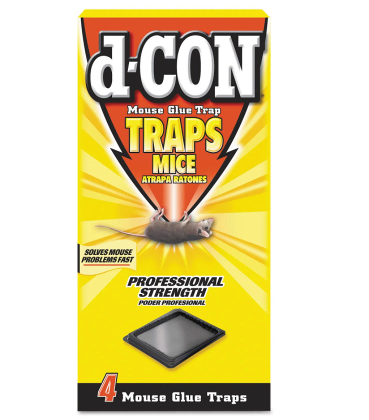 Facility Maintenance - D-CON® Plastic Mouse Glue Trap - 12 Boxes - Professional Strength