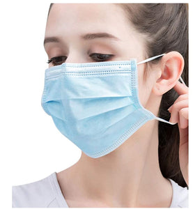 3 ply Disposable face masks - FDA registered - pack of 50 - FREE SHIPPING - $0.38 each - Brooklyn Equipment
