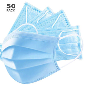 3 ply Disposable face masks - FDA registered - pack of 50 - FREE SHIPPING - $0.40 each - Brooklyn Equipment