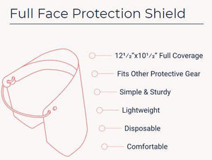 Full Protective Face Cover Shield - Made in USA - Brooklyn Equipment