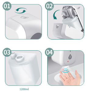 Automatic LIQUID Hand Sanitizer Dispenser - Industrial strength - Hands-Free - Battery Operated- Wall Mount - Brooklyn Equipment
