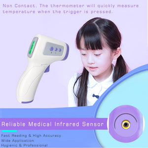 Digital Infrared Thermometer Body Surface Forehead Temperature Gun with LCD - FDA approved - Brooklyn Equipment
