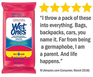 Wet Ones® Hand Sanitizing Travel Wipes - 3 packs of 20 wipes - kills 99.99% of germs - FREE SHIPPING - Tropical Scent - Brooklyn Equipment