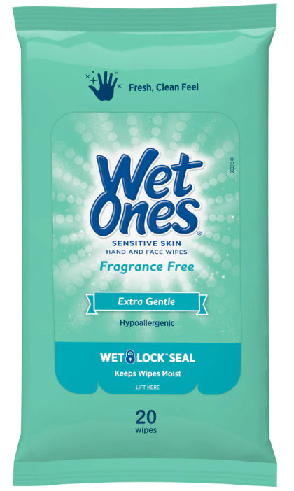 Wet Ones® Hand Sanitizing Travel Wipes - GREEN - 3 packs of 20 wipes - kills 99.99% of germs - FREE SHIPPING - Brooklyn Equipment