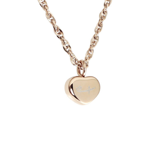 Tiny Heart Pendant-Rose Gold