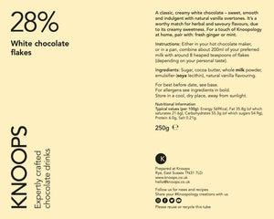 White chocolate flakes | 28%