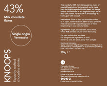 Load image into Gallery viewer, Milk chocolate flakes | 43% | Single Origin - Venezuela