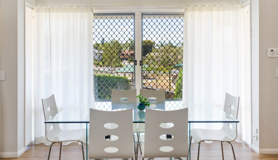 Wave Fold Curtains - Dining Room