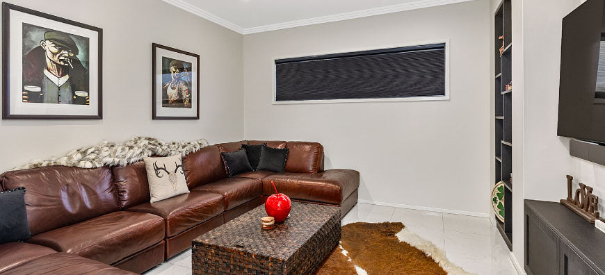 Honeycomb Day Night Blinds - Home Theatre