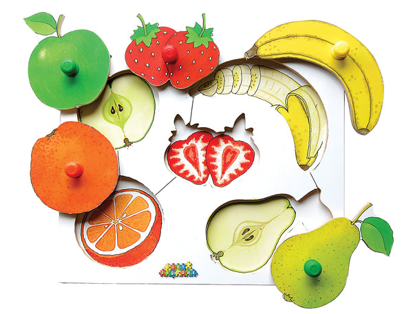 Fruit Peg Puzzles 3pk
