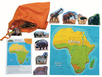 Animals And Their Continents: Africa