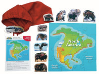 Animals And Their Continents: N America