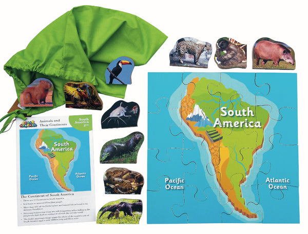 Animals And Their Continents: S America
