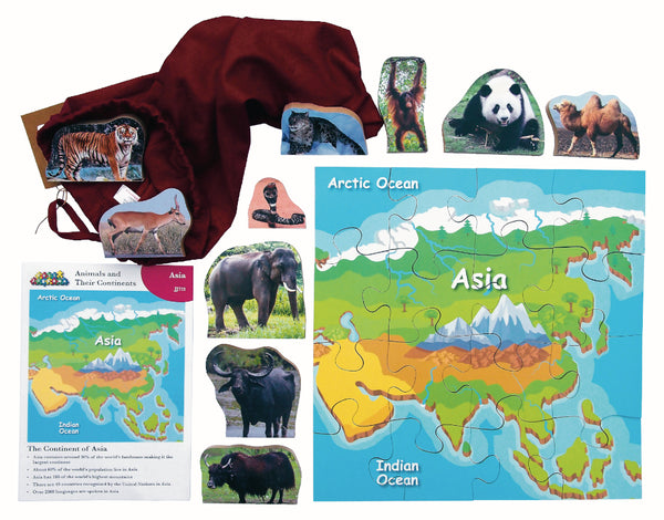 Animals And Their Continents: Asia