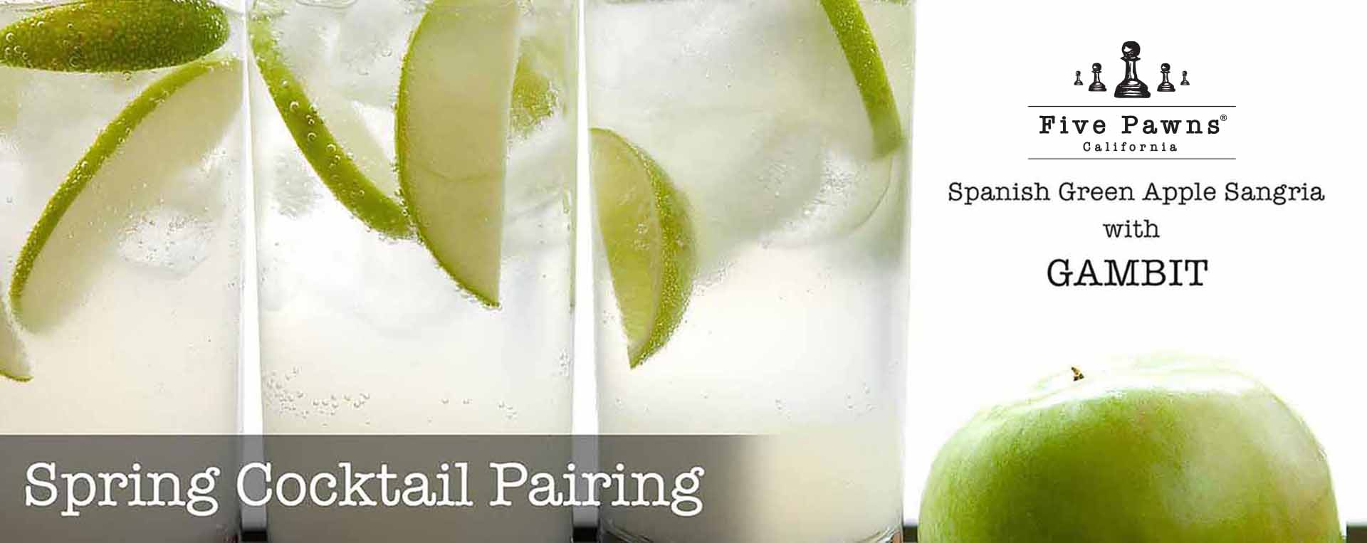 Spring Cocktail Pairing - Green Apple Sangria