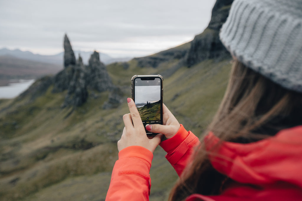 Taking photos of the Old Man of Storr