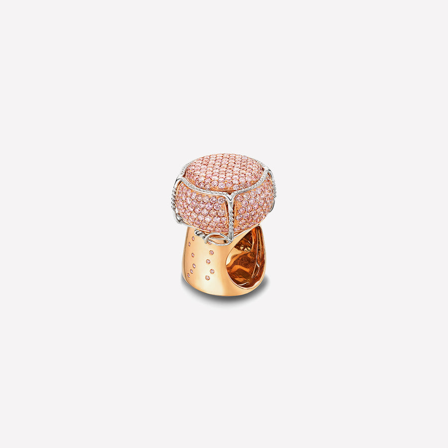 Ring Champagne Cork Pink