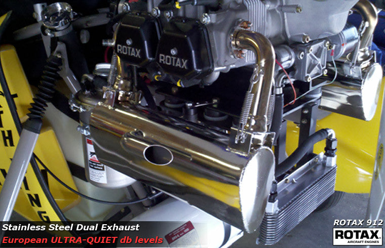 Dual Exhaust (Ultra-Quiet) for ROTAX 912 Engine