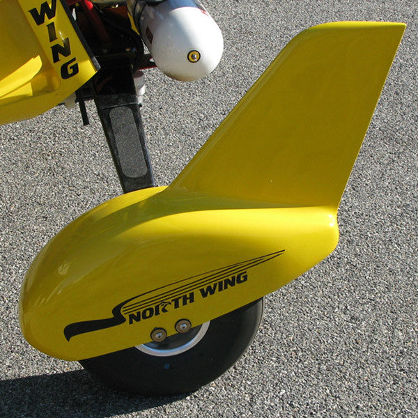 Wheel Fairings - wide, finned, painted