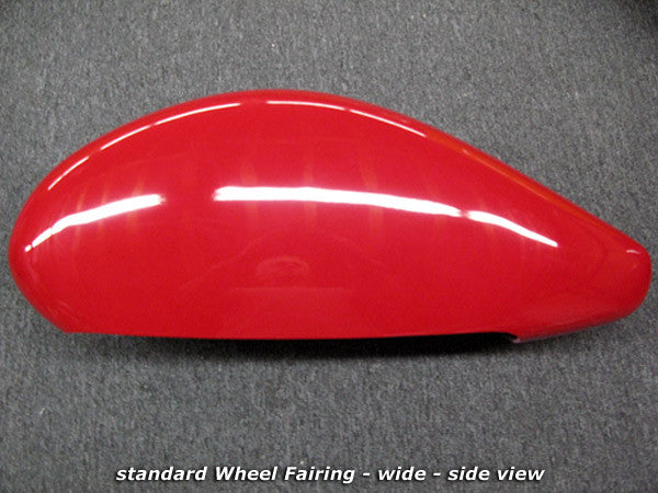Wheel Fairings - extra wide, painted