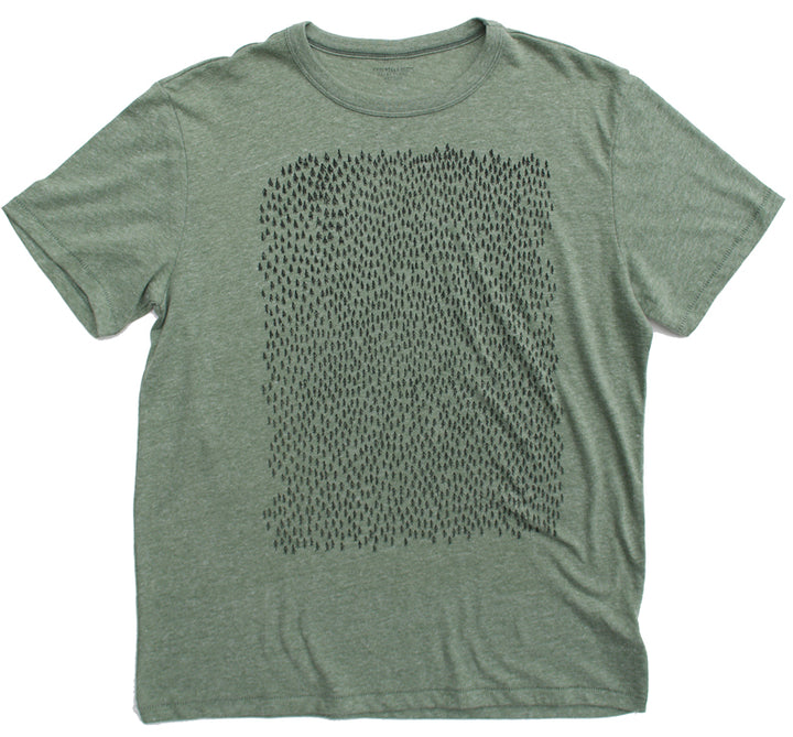 Forest Vintage Pine T Shirt - Summer Short Sleeves Top - O Neck Tee