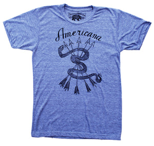 Men's Rattle-Snake With Arrows Americana Grey T Shirt - Summer Top