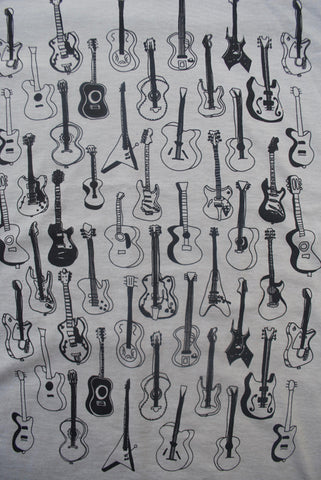 Guitars Pattern Heather Stone